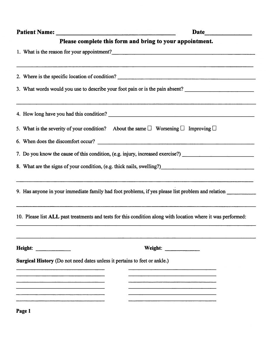 new physicanm patient form pdf